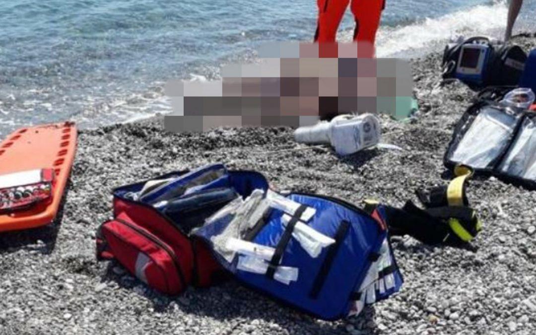 Il luogo della tragedia a Cirò Marina