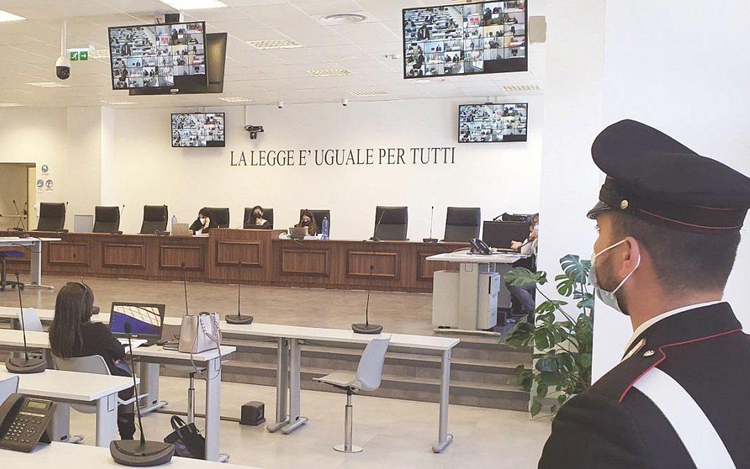 L'aula bunker di Lamezia Terme che ospita il processo Rinascita-Scott