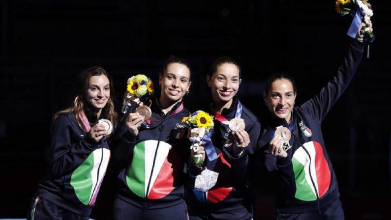 Olimpiadi di Tokyo 2020, Italia di bronzo nella spada a squadre femminile