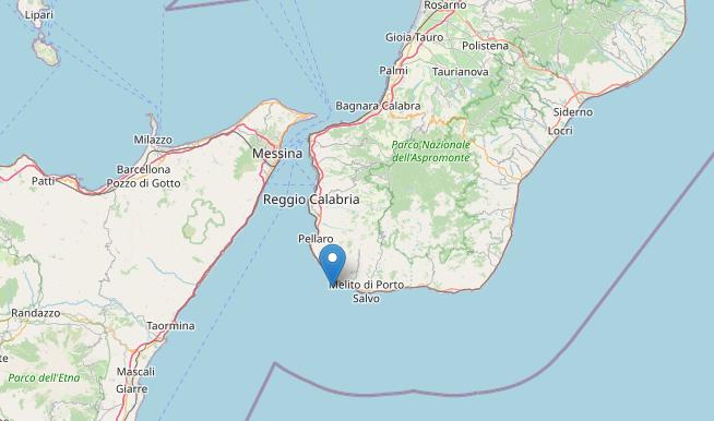 Terremoto nell'area dello Stretto: magnitudo 3 registrata nel Reggino