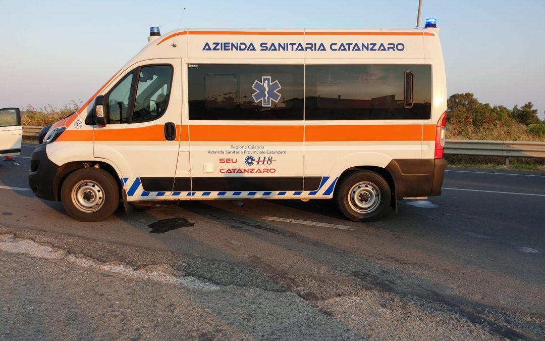 Un'ambulanza del 118 di Catanzaro