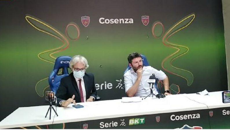 Il Cosenza presenta Goretti: «Allestiremo una squadra giovane. Presto il nuovo tecnico»
