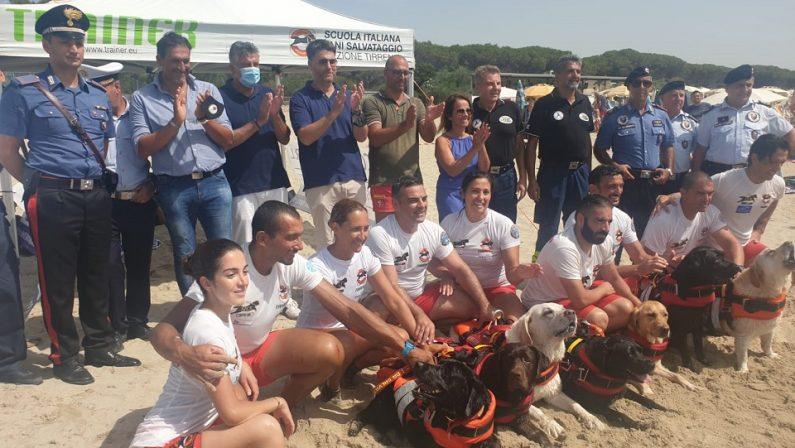Salvataggio in mare con i cani, nel Catanzarese il progetto che guarda anche all'ambiente - FOTO