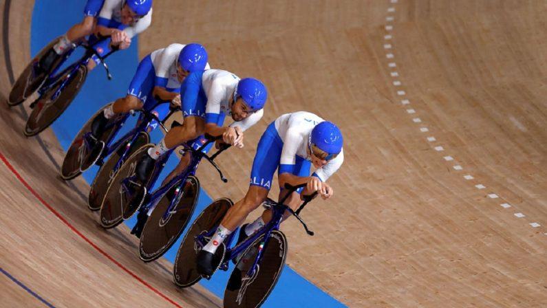 Tokyo 2020, medaglia d'oro nell'inseguimento maschile del ciclismo su pista