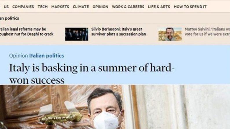 L'ITALIA PROMOSSA DAL FINANCIAL TIMES. I TITOLI ROSICONI NON RIGUARDANO IL PAESE