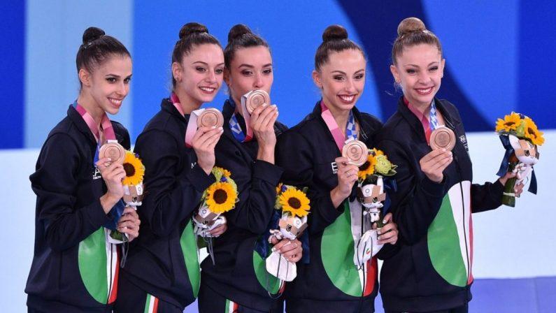 Olimpiadi di Tokyo 2020, Bronzo dalla Ginnastica ritmica, Italia a quota 40 medaglie