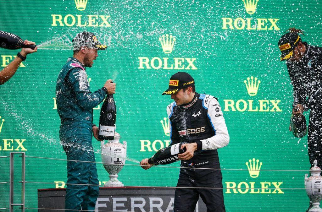 In Ungheria vince a sorpresa Ocon, poi Vettel-Hamilton