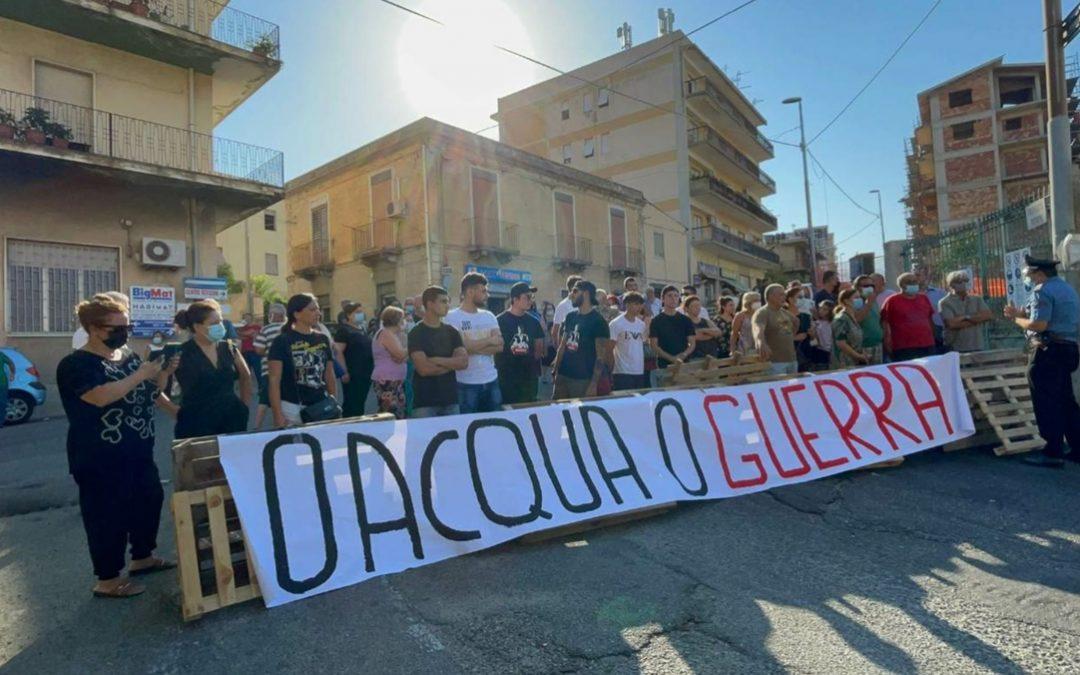La protesta a Condera di Reggio Calabria