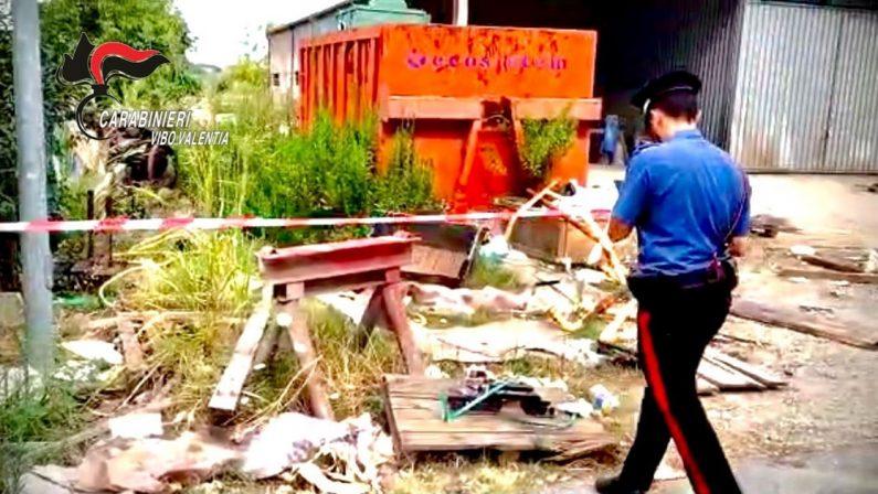 Discarica abusiva di rifiuti pericolosi, nuovo sequestro nel Vibonese