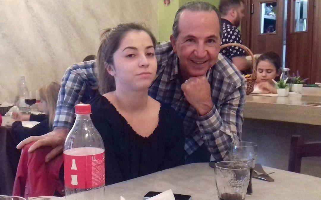Simona Cavallaro con il padre Alfio