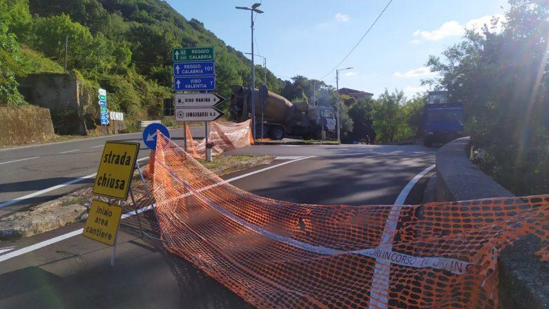Cede l'asfalto dopo i lavori, di nuovo chiusa la strada tra Vibo e la frazione Longobardi