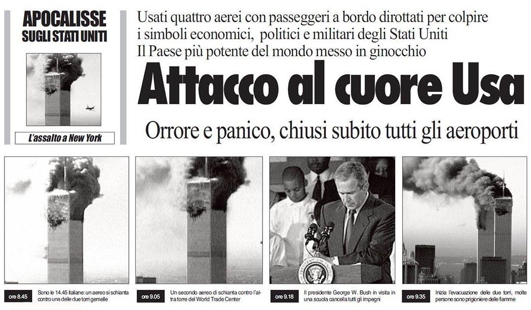 11 Settembre 2001, il terrore scuote il mondo: Le copertine del Quotidiano del sud in quella prima settimana