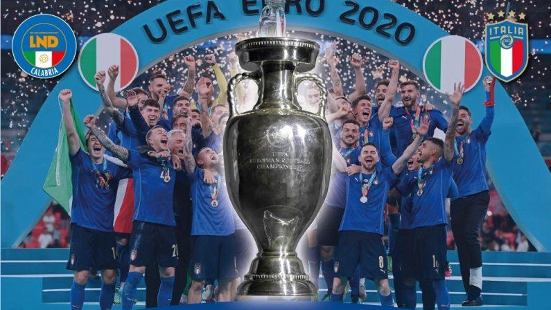 La Coppa di Euro 2020 vinta dagli Azzurri sarà esposta lunedì a Catanzaro