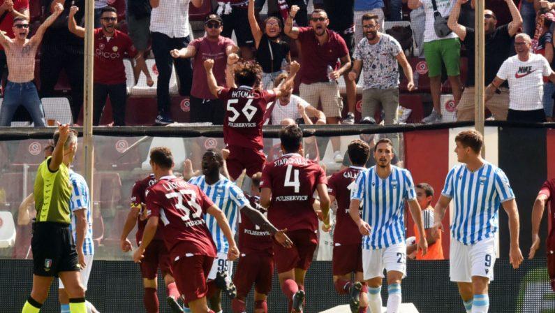 Gol di Hetemaj e Montalto, rigore parato di Micai: la Reggina supera la Spal