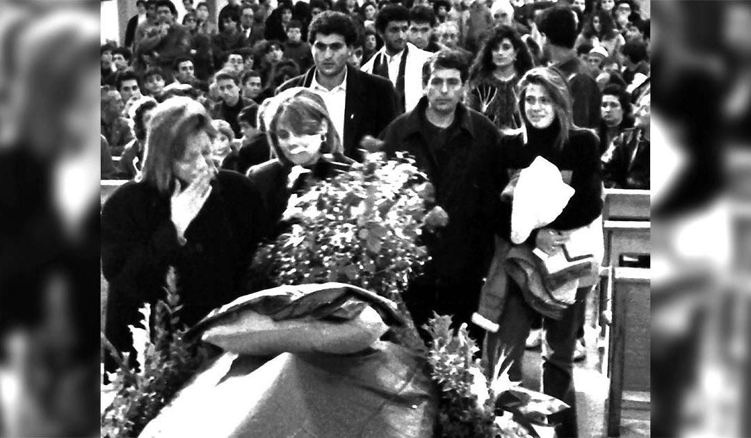 La famiglia Internò al funerale di Denis Bergamini