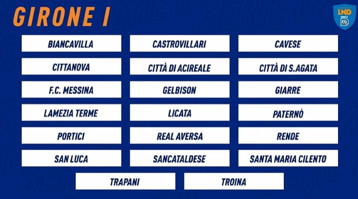 L'elenco delle partecipanti al prossimo torneo di Serie D, girone I
