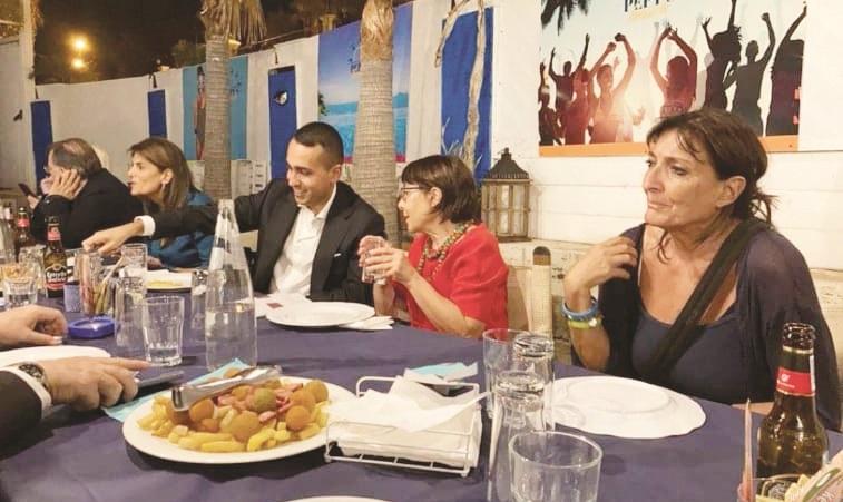 Luigi Di Maio a Reggio Calabria a cena con Amalia Bruni