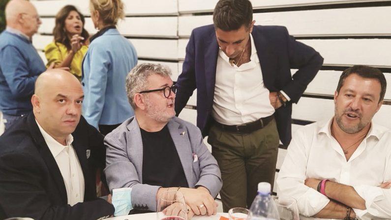Elezioni a Cosenza, la cena di Salvini con l'alleato che ha tre inchieste addosso