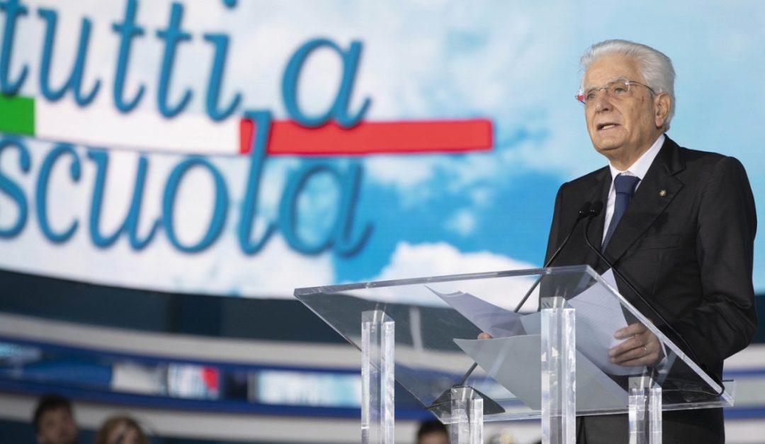 Il presidente della Repubblica Sergio Mattarella a Pizzo per l'inaugurazione dell'anno scolastico