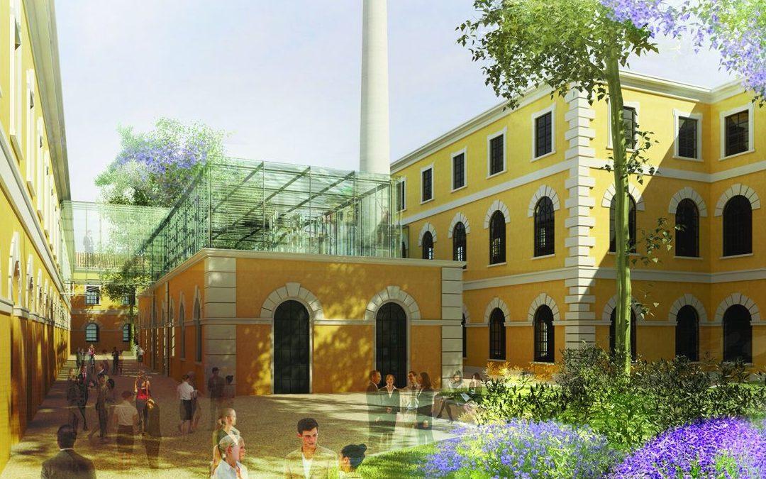Un render del progetto relativo alla nuova sede del Cnr nell'area dell'ex Manifattura tabacchi