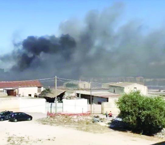 Uno degli ultimi incendi a Molfetta