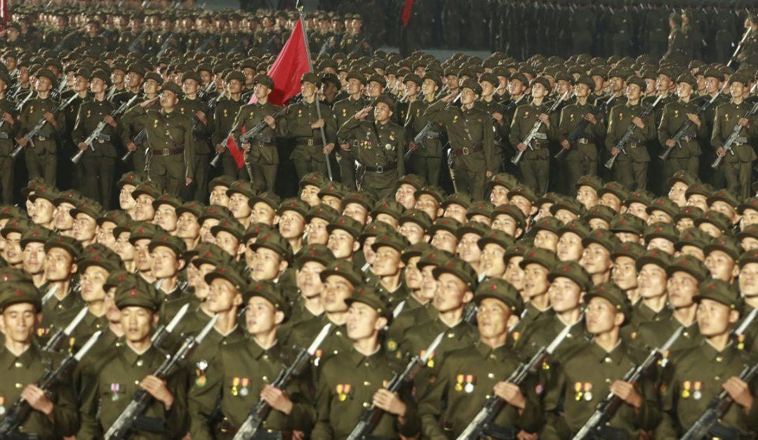 La parata militare in Nord Corea