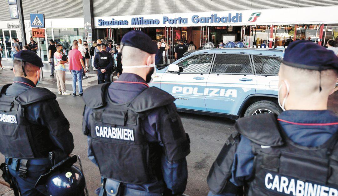 La Polizia a Milano