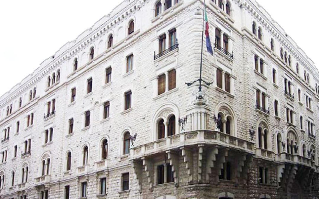 La storica sede dell'Acquedotto pugliese