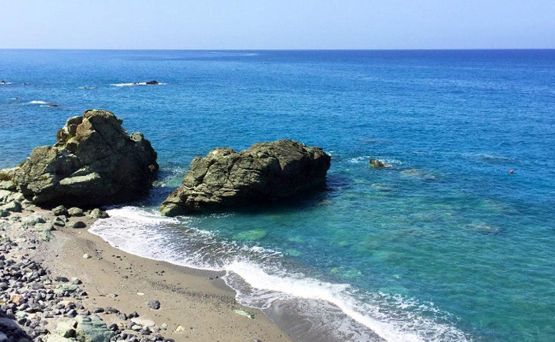 La spiaggia di Coreca ad Amantea