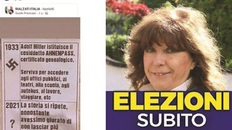 «Green pass come le schedature di Hitler», la leghista no vax sta inguaiando Salvini