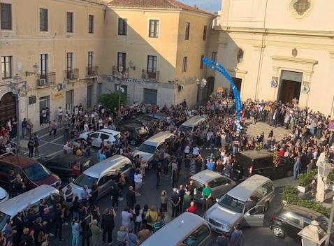 I funerali dell'uomo a Crotone