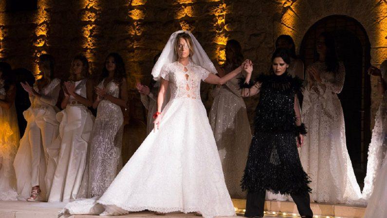 Gessica Notaro sfila a Grottaglie vestita da sposa