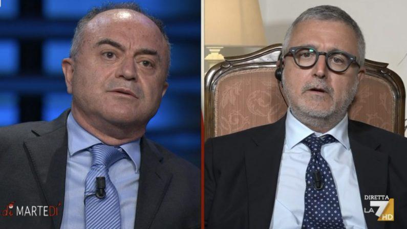 Scontro tra Gratteri e il giornalista Barbano su La7 per l'inchiesta su Oliverio - VIDEO