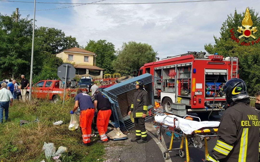 L'incidente stradale avvenuto lungo la Ss18 a Ionadi