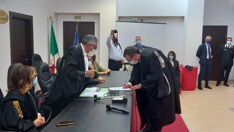 Castrovillari, ecco il nuovo procuratore D'Alessio: «C'è bisogno di credibilità»