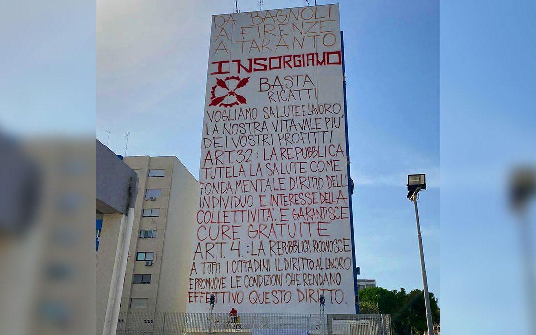 Ex Ilva, tutto pronto per il murales di Jorit a Taranto: «Basta ricatti, insorgiamo»