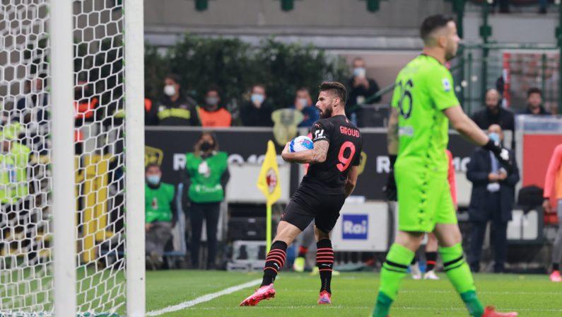 Da 0-2 a 3-2, Milan batte Verona e vola in testa