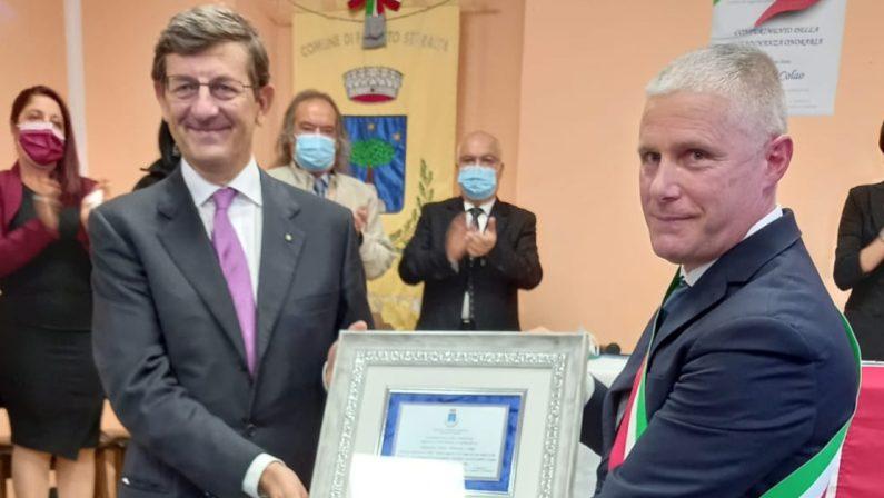 Colao cittadino onorario di Fossato Serralta: «Calabria poco comunicata»
