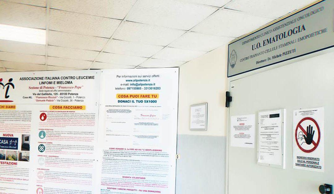 Il reparto di ematologia dell'ospedale San Carlo
