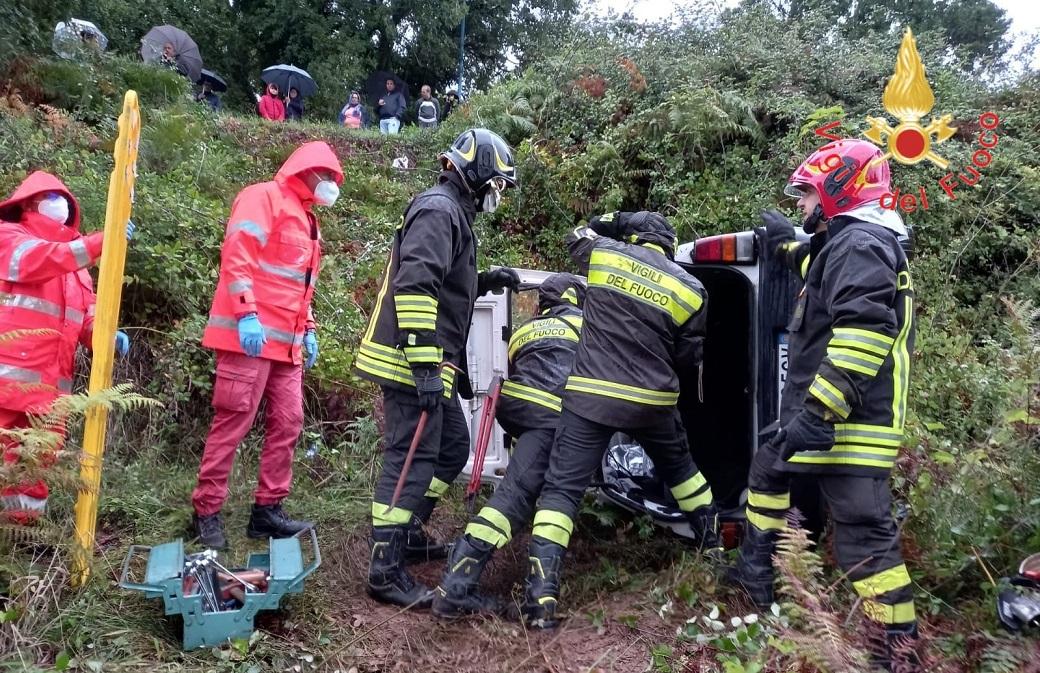 I soccorsi per l'incidente
