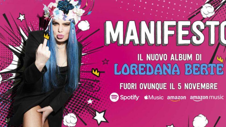 """Esce il nuovo album di Loredana Bertè, in """"Manifesto"""" i duetti con Fedez, Nitro e J-Ax"""