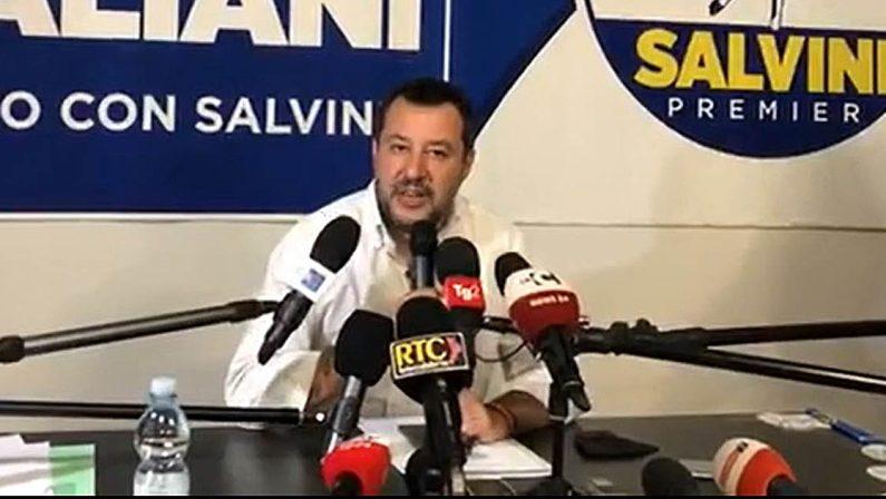 Salvini in Calabria fissa le priorità e avverte: «Parlerò di Giunta con Occhiuto» - VIDEO