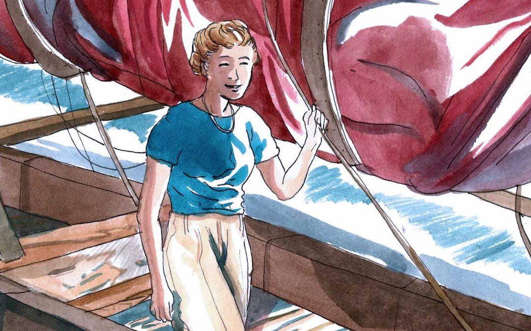 Ragnhild Hveger, illustrazione di Roberto Melis
