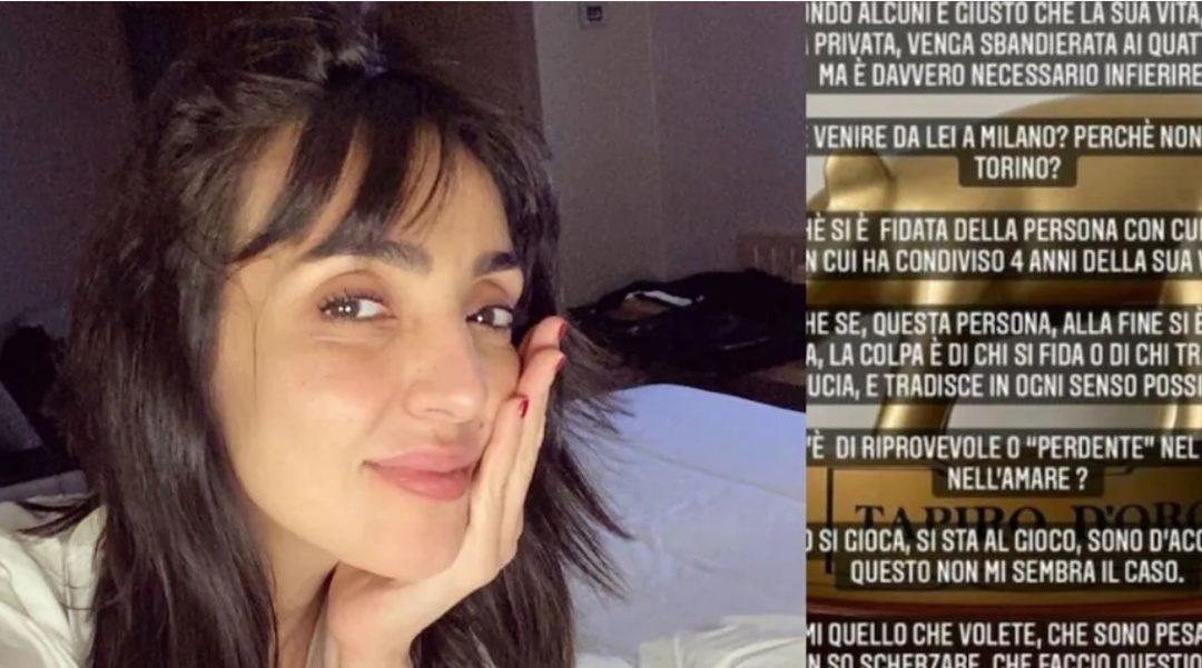 La figlia di Ambra Angiolini si sfoga sui social: «La colpa è di chi tradisce»