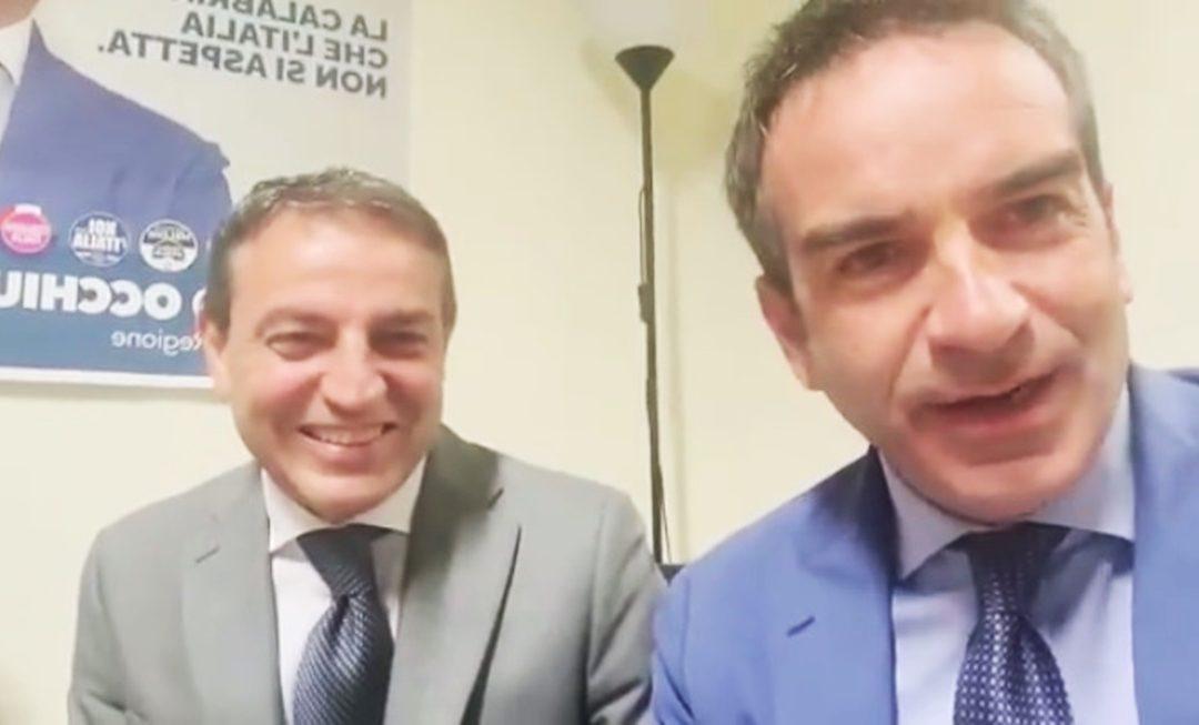 Francesco Caruso con Roberto Occhiuto